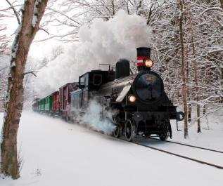 Veterantog til Rosendals julemarked og trinbræt
